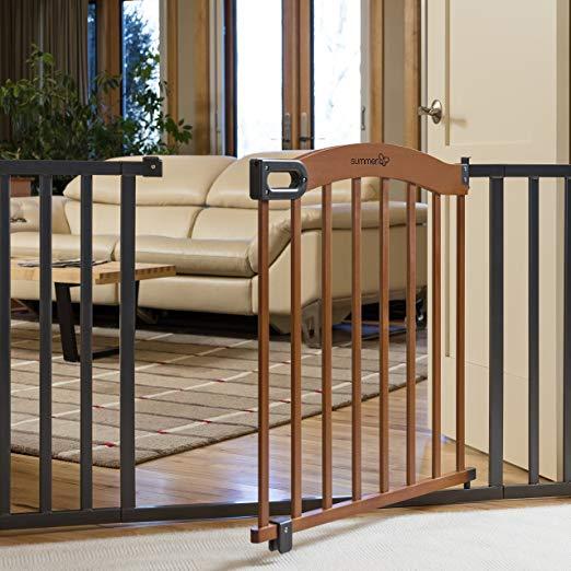 Summer Infant Decorative Wood & Metal 5 Foot Pressure Mounted Baby Gate